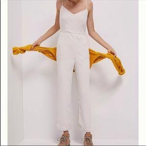 Anthropologie magdalena summer white jumpsuit